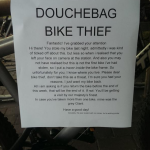 'Dear Douchebag Bike Thief': Student's hilarious letter to bike thief goes viral