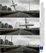 Dramatic moment plane carrying 58 people clips bridge and crashes intoriver