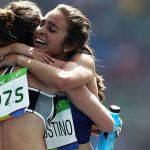 Olympic runner helps competitor to her feet after heartbreaking fall